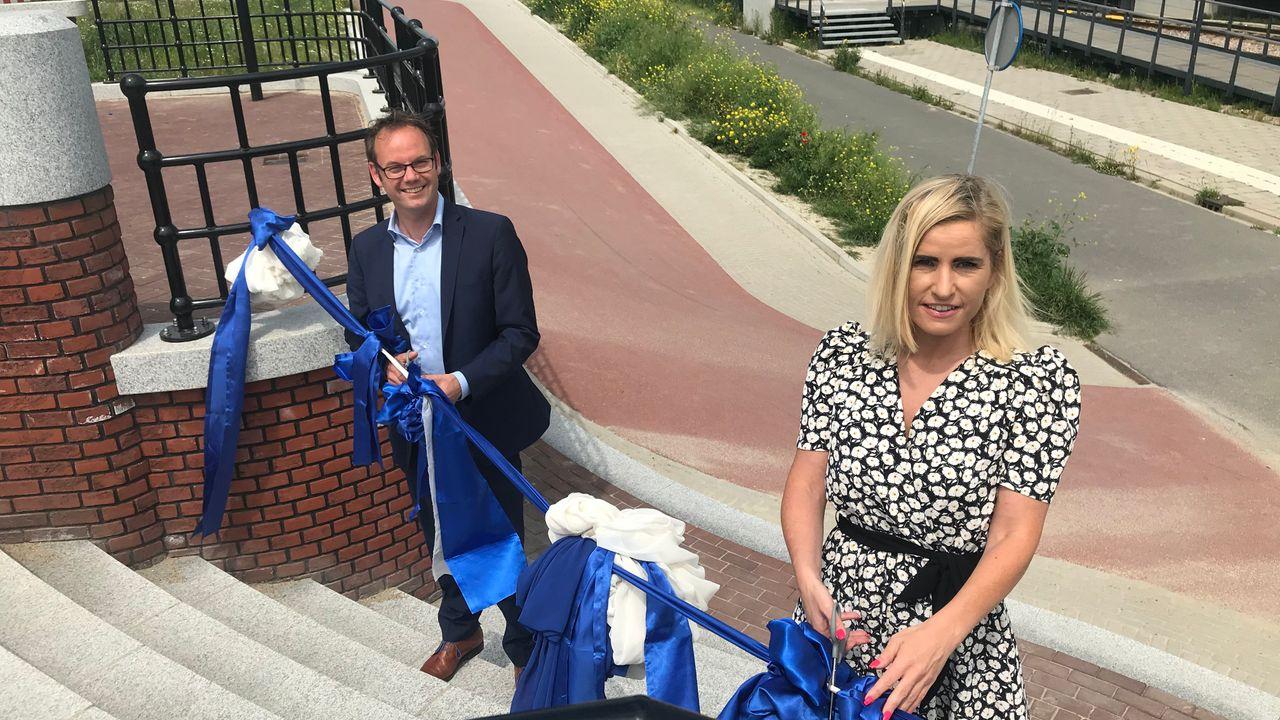 Nieuw fiets-en wandelpad geopend bij wijk Het Balkon