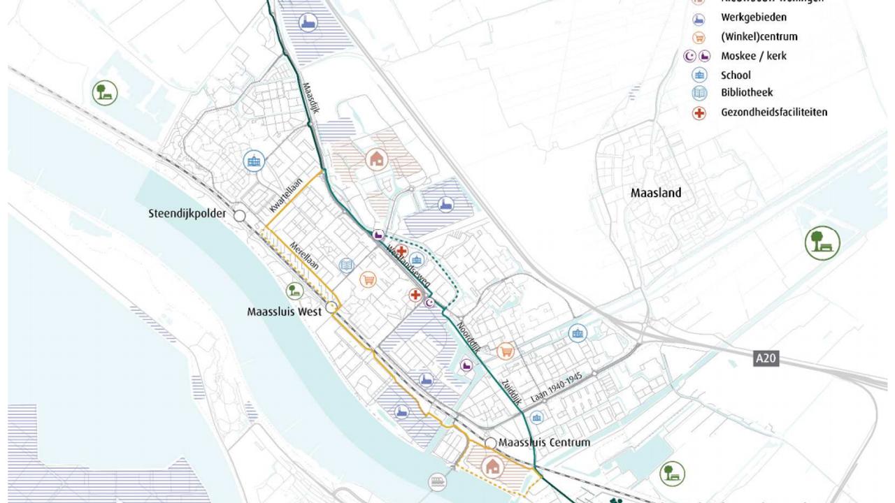 'Snelfietsroute centraal door Maassluis het meest voordelig'