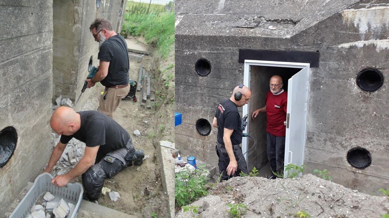 Deur in bunker 601 weer open