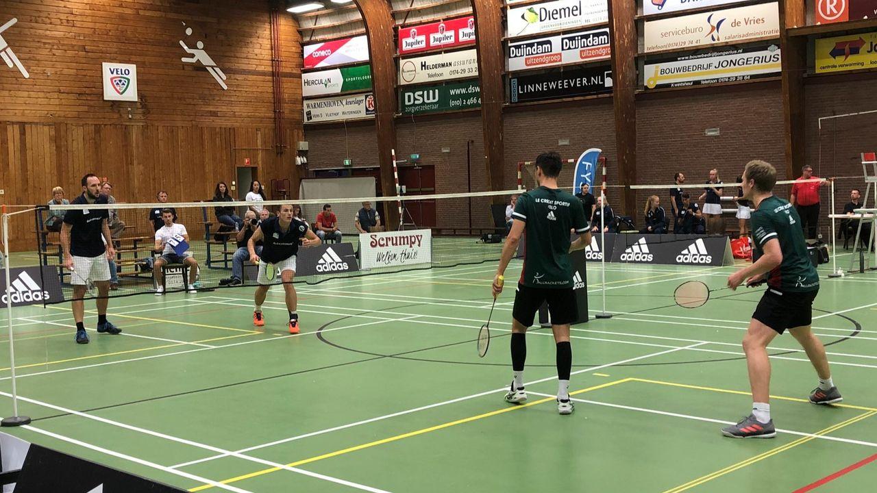 Badmintonners Velo verslaan DKC in eredivisie-derby