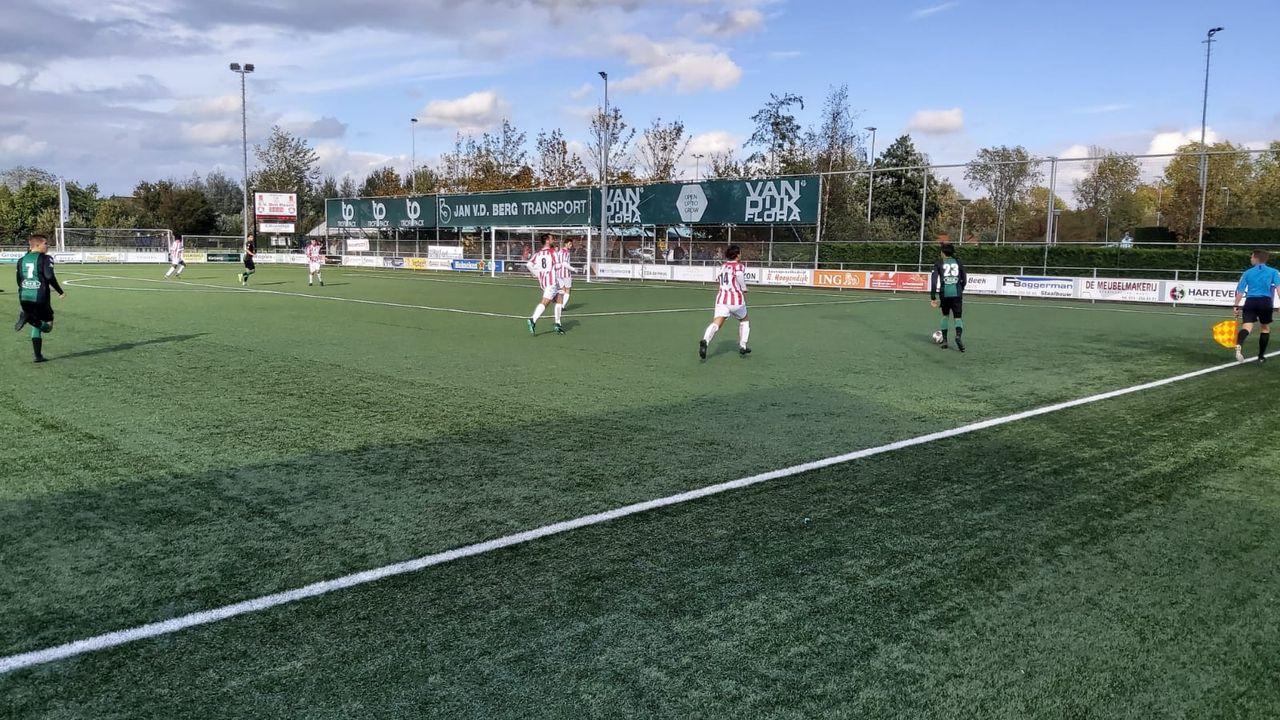 Zondagvoetbal: Den Hoorn en Westlandia spelen allebei gelijk