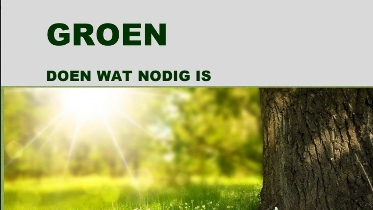 Groenvisie: Westland moet groener