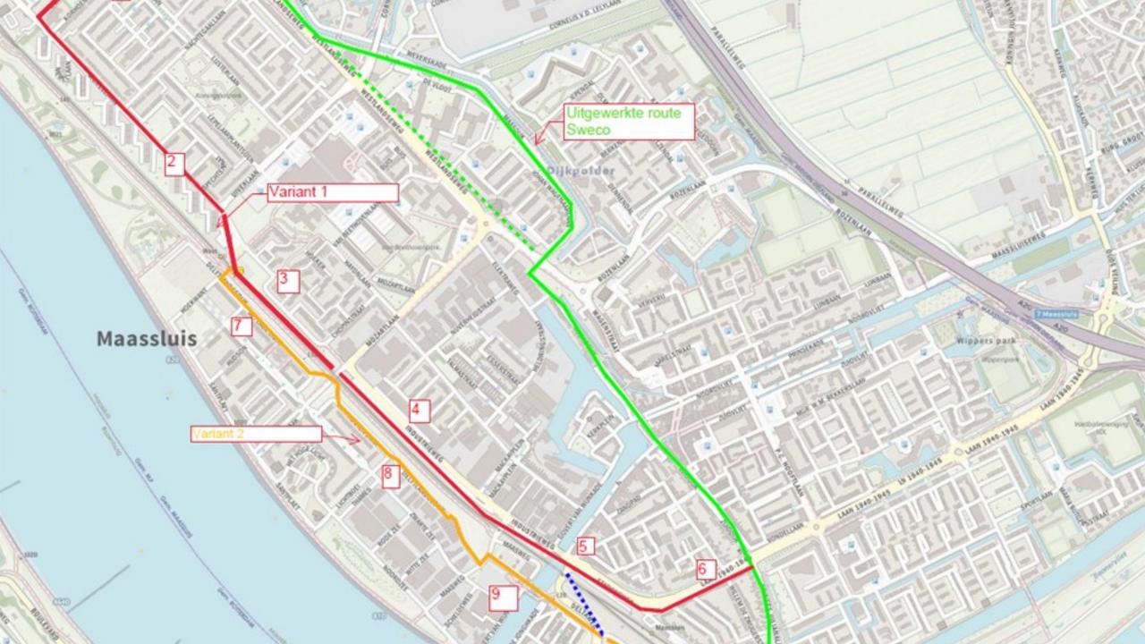 Maassluis twijfelt nog over route metropolitaan fietspad