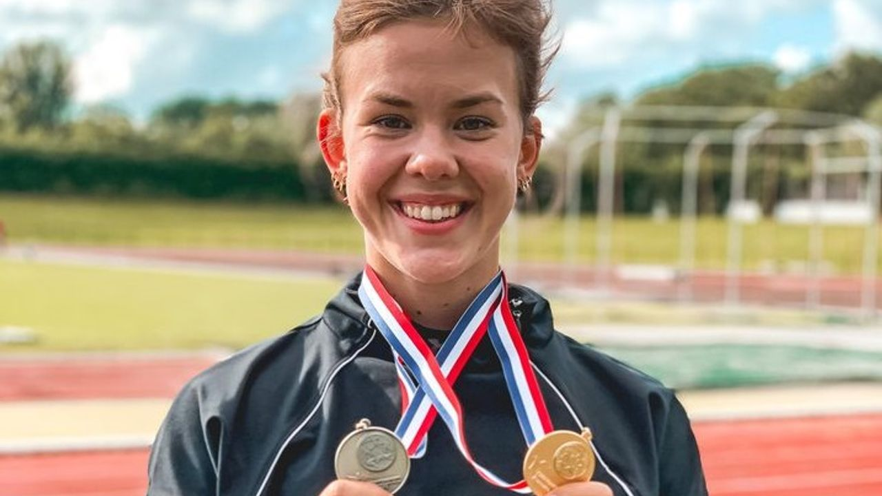 Atlete Eva Tetteroo pakt goud, zilver en een Westlands record