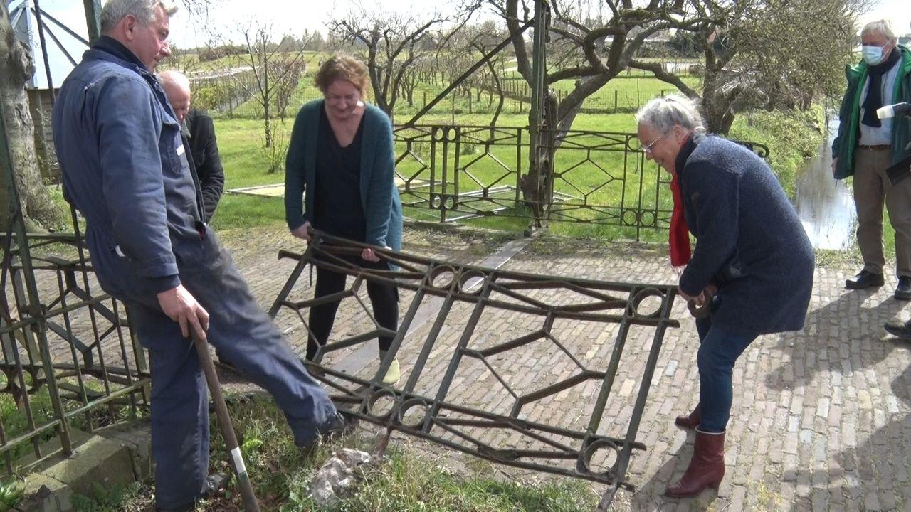 Restauratie hek Buitenplaats Hodenpijl begonnen