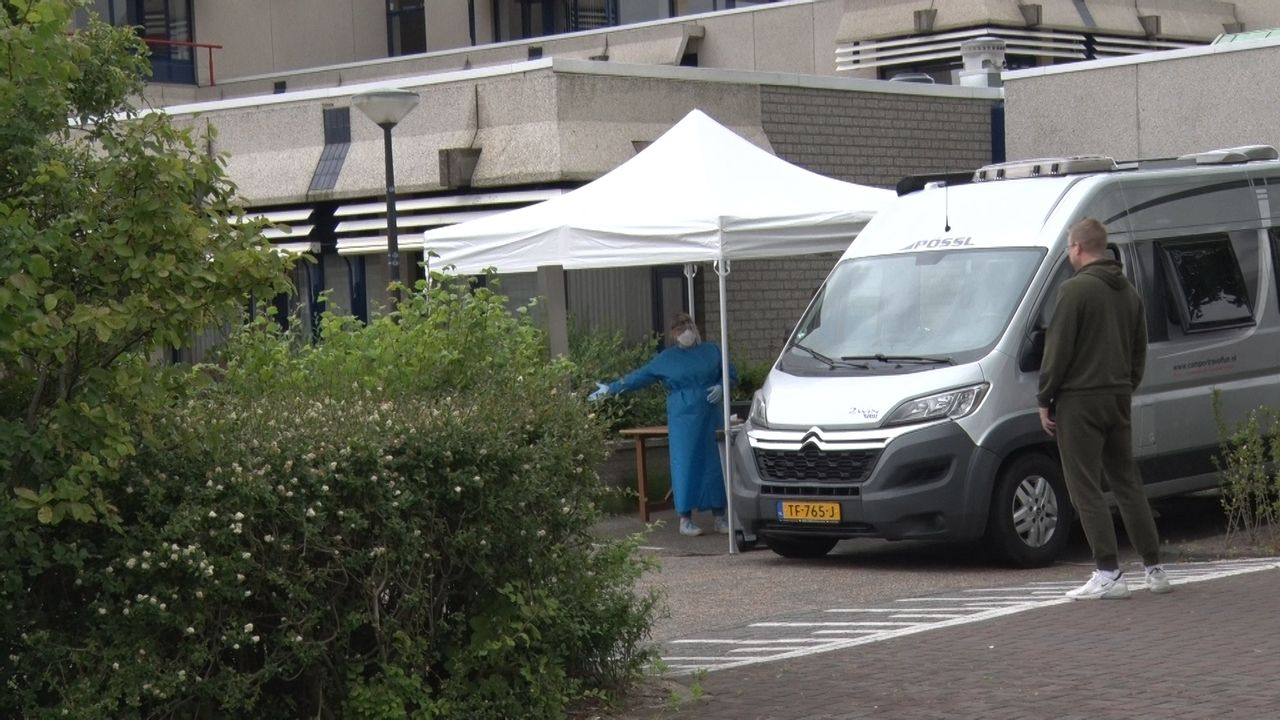 Corona: ook mobiele testlocatie in Maassluis