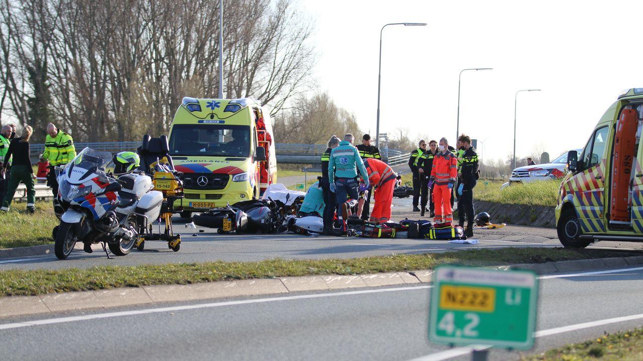 Motorrijder verongelukt in Honselersdijk