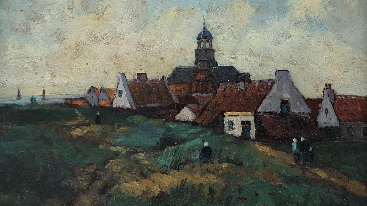 Olieverfschilderij Ter Heijde naar collectie Kunstmuseum