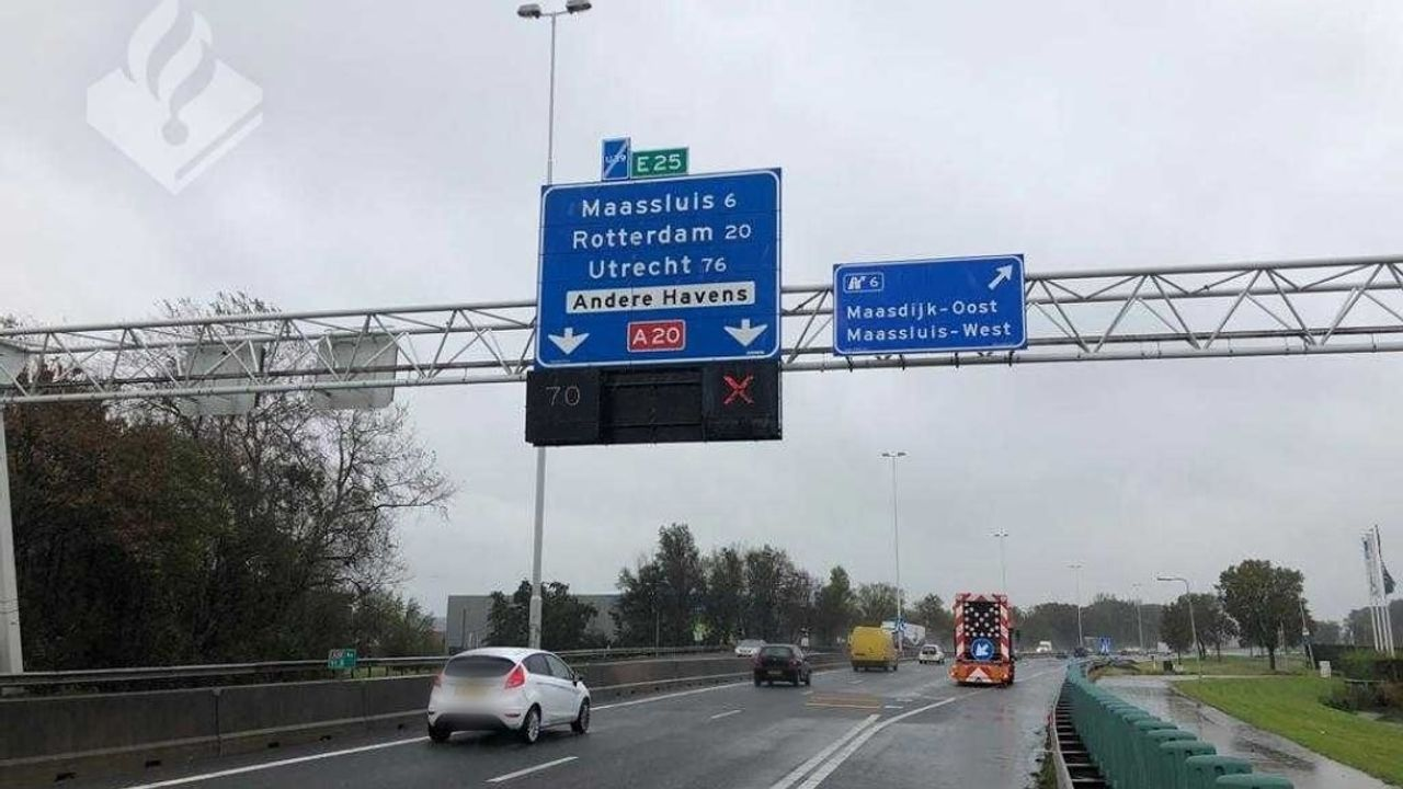 Hoge boete voor weggebruikers A20