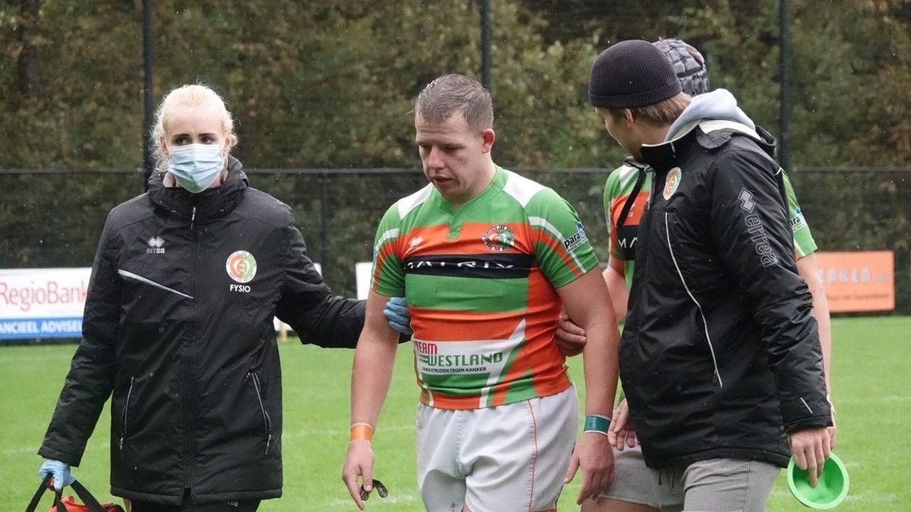 Hoekse rugbyers moeten buigen voor Hilversummers