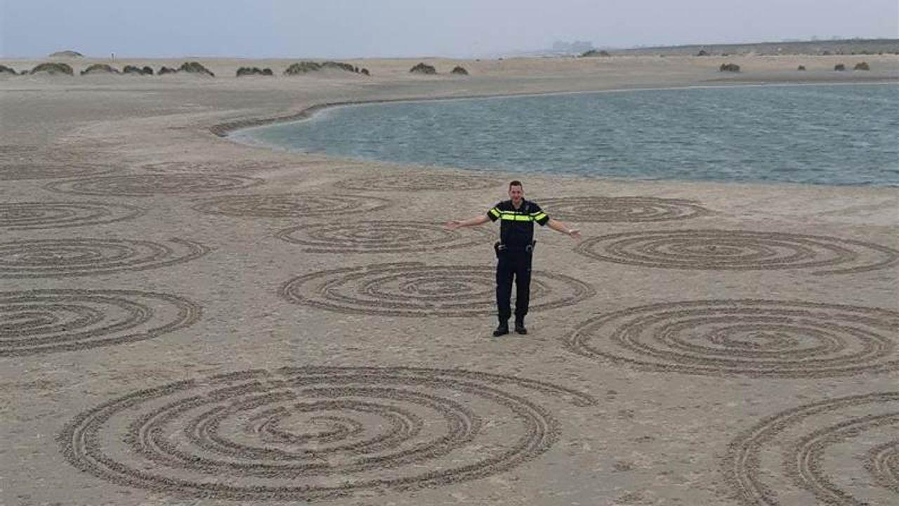 Hoe zit dat met die 'cirkels' op de Zandmotor?