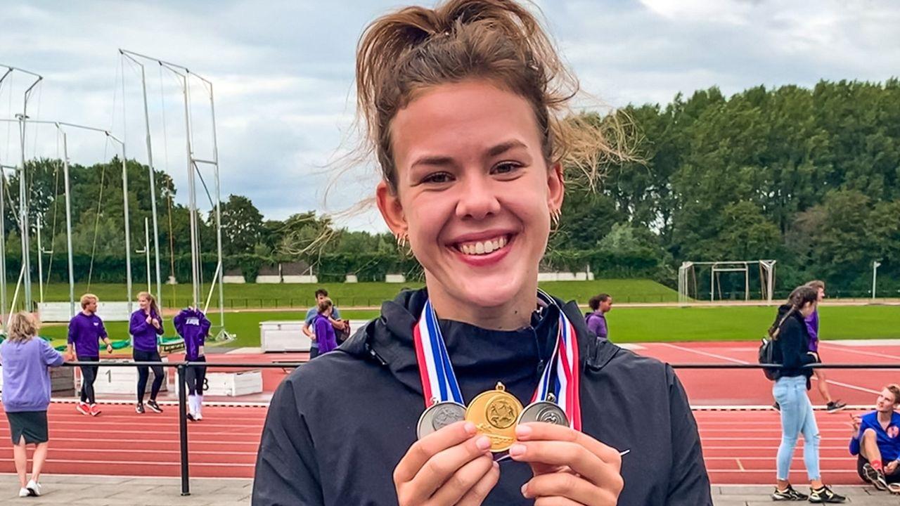 Derde medaille plus record voor Eva Tetteroo op slotdag NSK