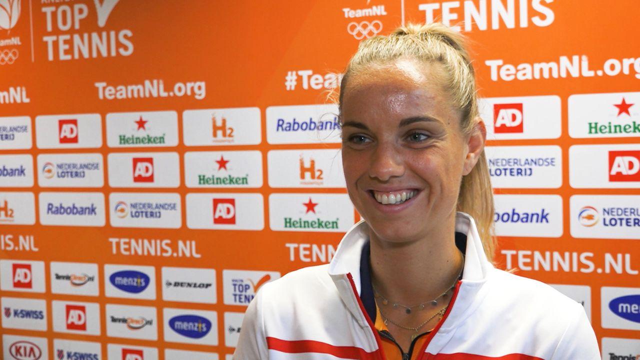 Arantxa Rus wint met Nederlandse tennisvrouwen van China