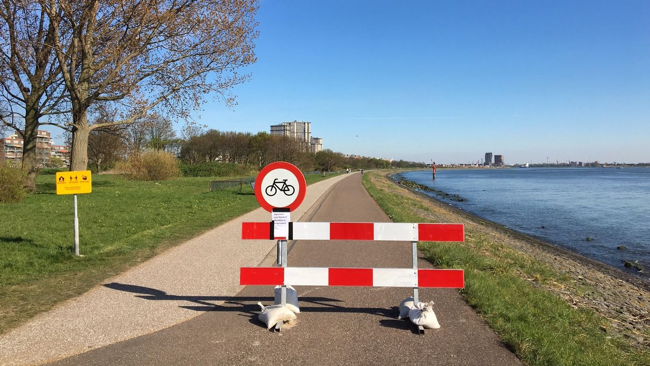 Ook in weekeinde weer langs waterkant fietsen bij Maassluis