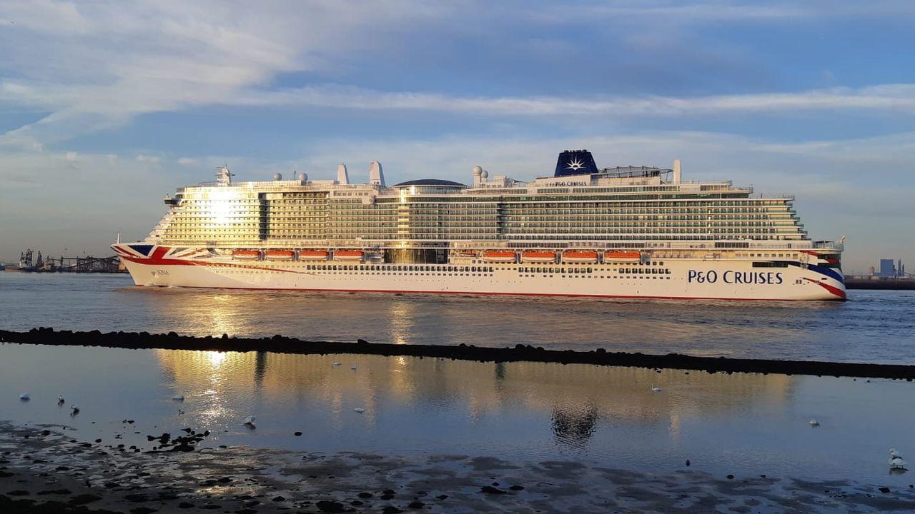 Drie cruiseschepen passeren de Hoek