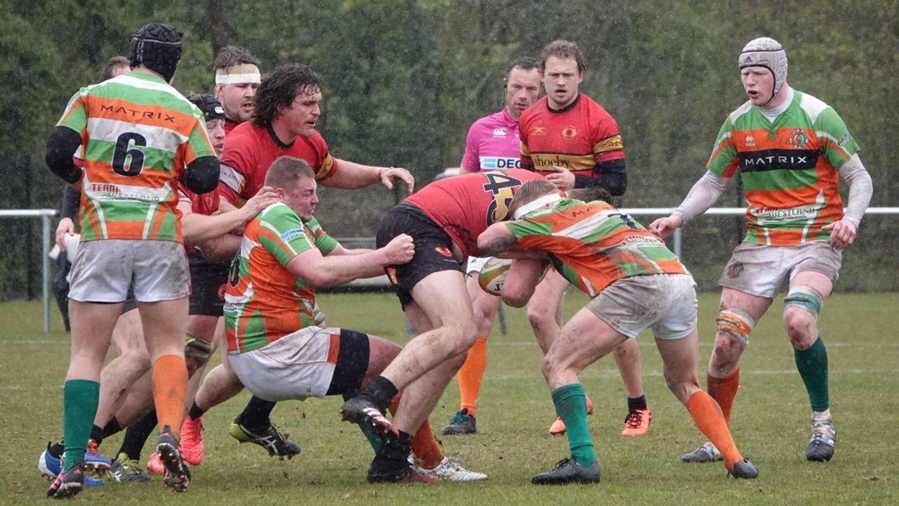 Hoekse rugbyers blijven Bossche bezoekers de baas