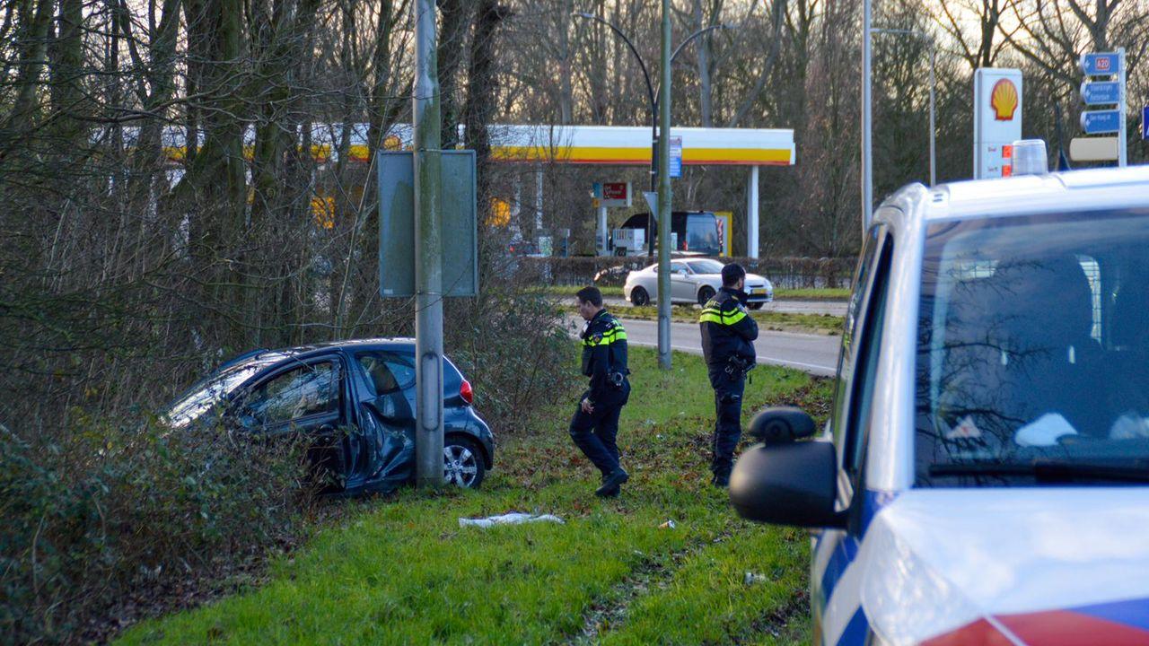 Oprit A20 bij Maassluis afgesloten na ongeval