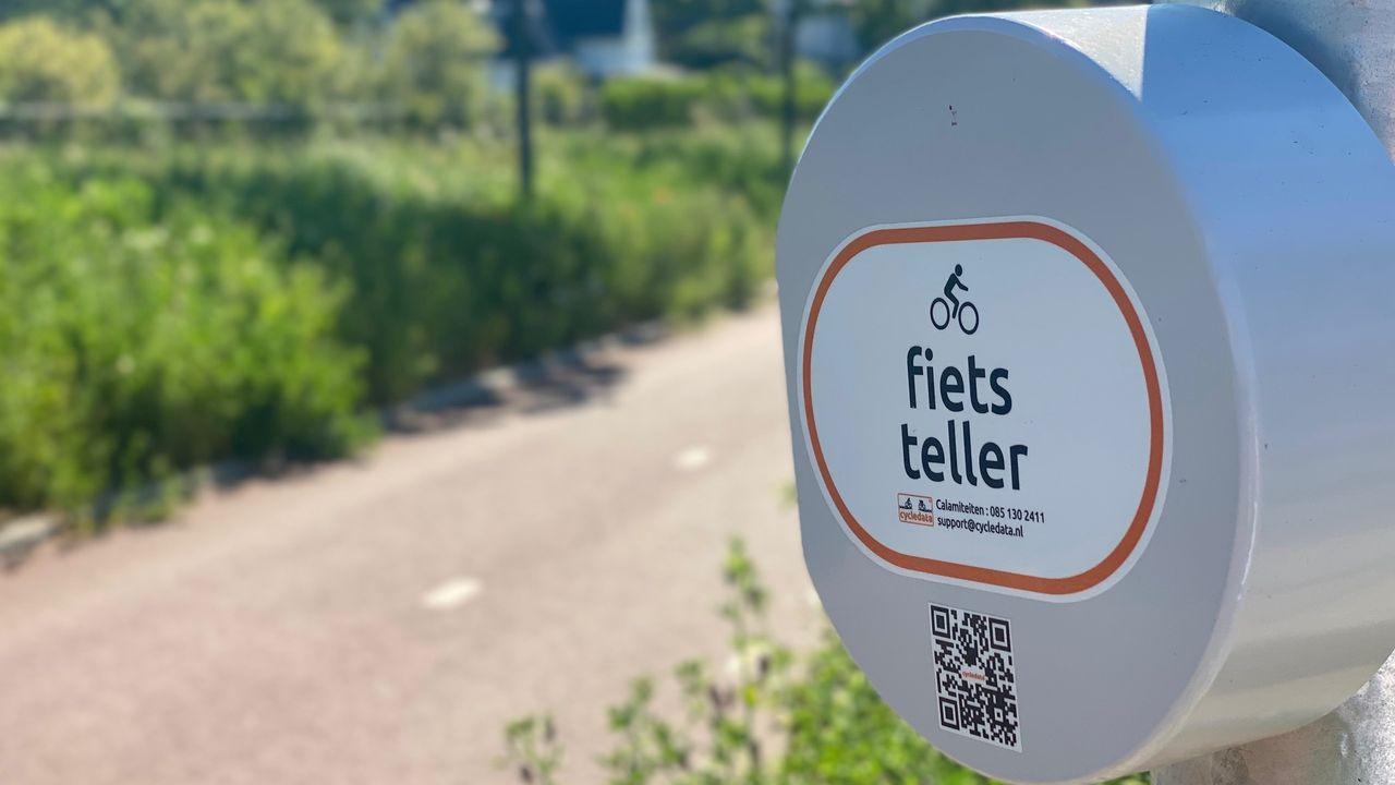 Fietstellers geplaatst in Hoek van Holland