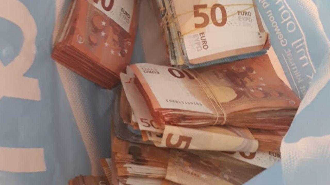Bestuurder heeft 21.000 euro op zak