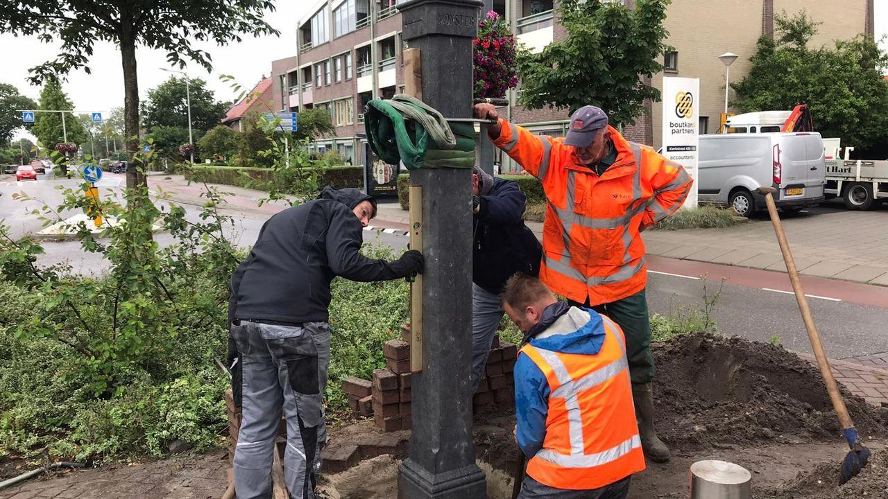 Grenspaal terug in Kwintsheul