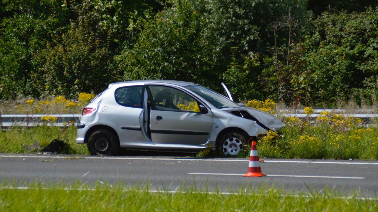 Ongeluk op de A20 bij Maassluis
