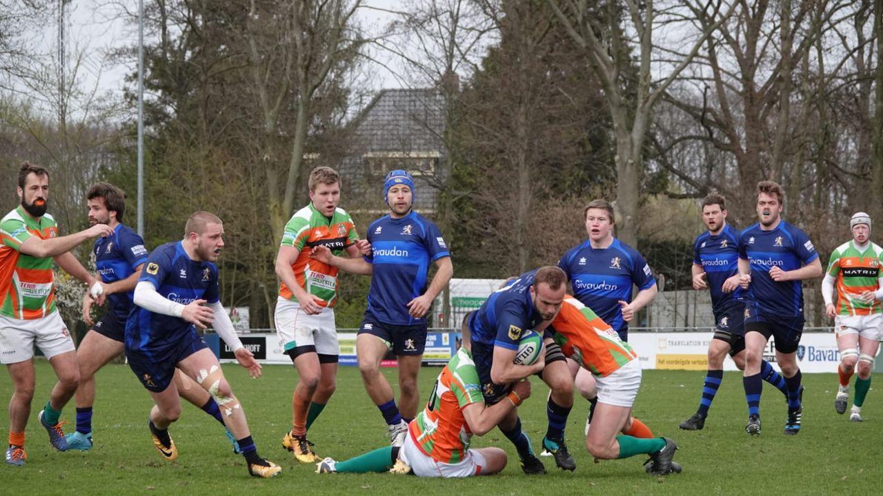 Hoekse rugbyers verliezen in spannende pot nipt van 't Gooi