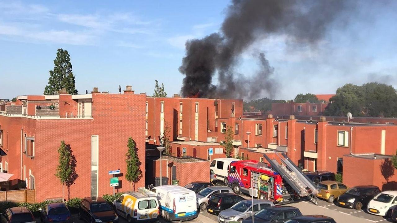 De Lier: woningbrand aan Eikenhof