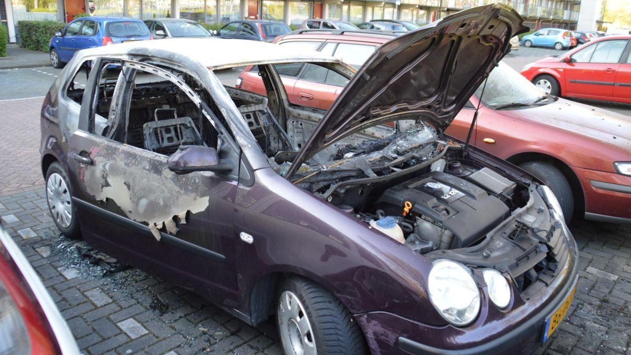 Auto uitgebrand in Maassluis