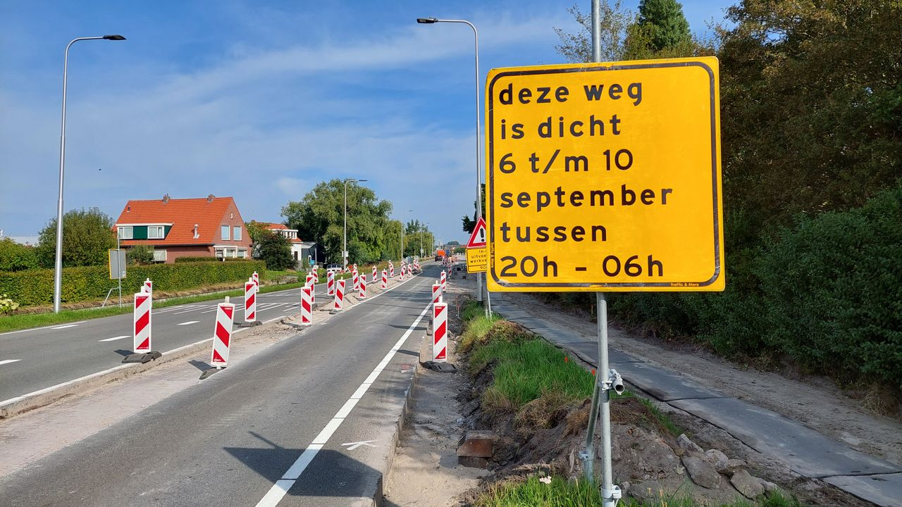 Nieuweweg deze week in avonduren dicht