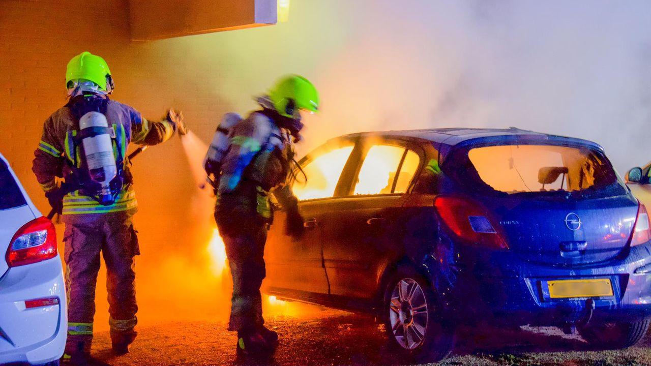Autobrand in Maassluis