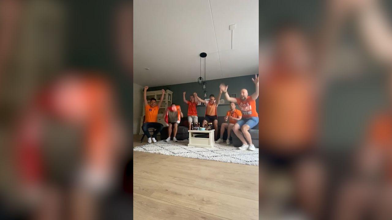 Vertraging door TV signaal, buren juichen eerder voor Oranje