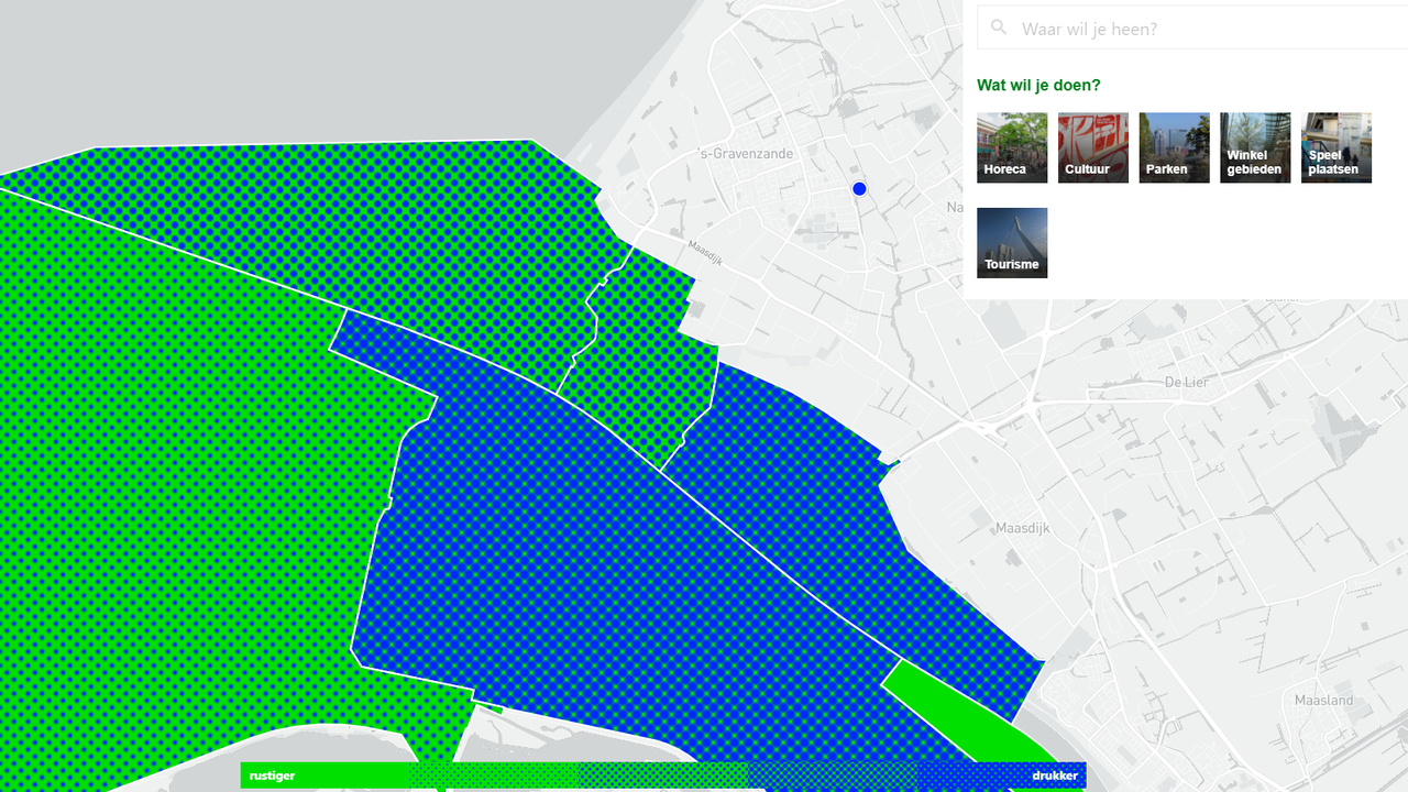 Drukte Hoek van Holland en Rotterdam in kaart gebracht