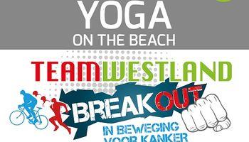 Yogachallenge on the Beach voor Team Westland