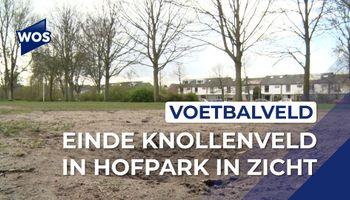Einde knollenveld in Hofpark in zicht