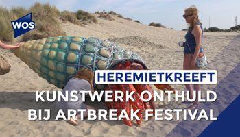 Kunstwerk van zwerfplastic onthuld tijdens ArtBreak Festival